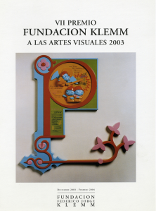 Catalogo Premio Klemm 2003 Tapa